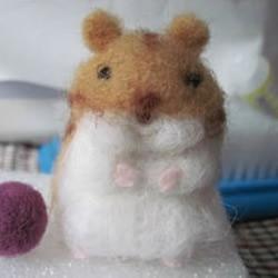 可爱仓鼠的羊毛毡制作教程