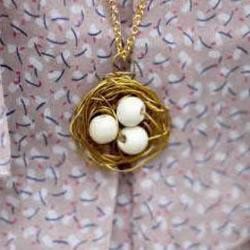 时尚鸟巢项链吊坠的DIY教程