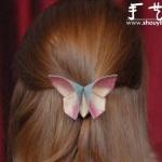 复古风布艺蝴蝶发卡的手工制作教程