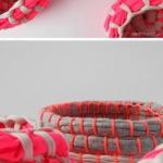 旧衣物布条DIY置物篮的制作方法
