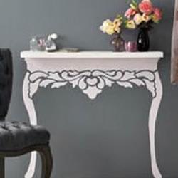 手绘搭配搁板DIY欧式桌子的方法