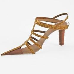 精美的女式高跟鞋剪纸作品欣赏