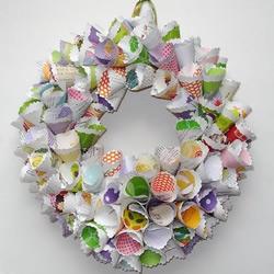 折纸花环作品欣赏