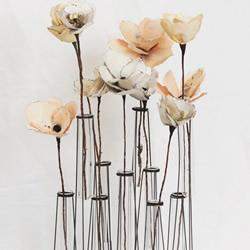 铁丝和玻璃试管制作的创意花瓶