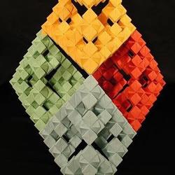 立体几何模型折纸作品