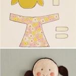 不织布制作女生娃娃的方法教程