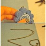 不织布制作太阳花小挂坠项链的方法