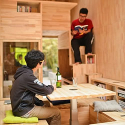 木板制作的房子欣赏