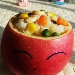 DIY可爱有趣的苹果饭