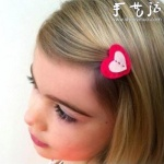 DIY可爱的心形发夹