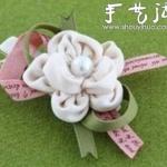 小清新花朵样式发夹DIY教程