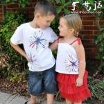 DIY烟花文化衫的教程