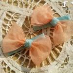 适合小女孩佩戴的蝴蝶结发夹