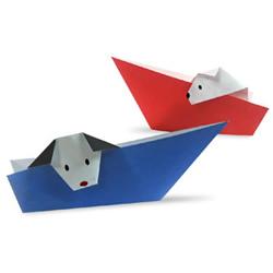狗狗折纸方法