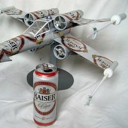 啤酒易拉罐DIY制作X-Wing 战机