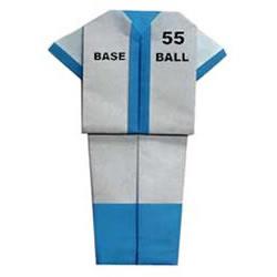 棒球服手工折纸方法