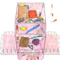 手工剪纸制作爱马仕包包的方法