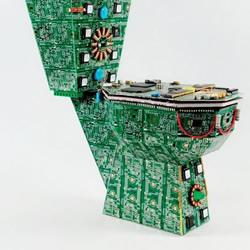 废弃印刷电路板DIY制作创意马桶