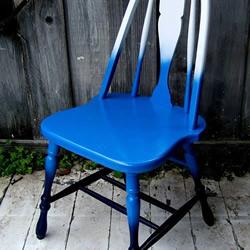 旧椅子翻新DIY色彩渐变椅子