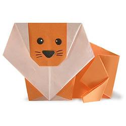 狮子手工折纸教程