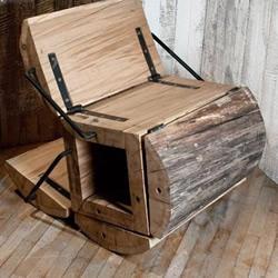 废木料DIY折叠座椅