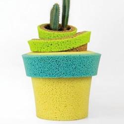 DIY实用的海绵花盆
