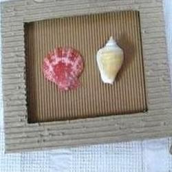 瓦楞纸手工DIY相框