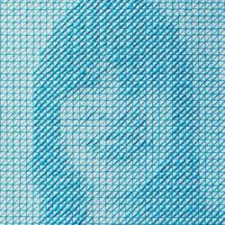 用四色针线创造的CMYK刺绣画