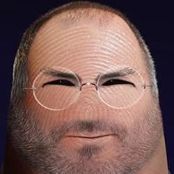 结合电脑PS技术制作的手指肖像作品