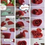红玫瑰DIY手工布艺制作