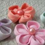 DIY布艺樱花的教程