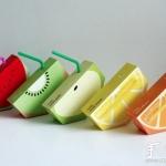 可爱的水果外形果汁包装