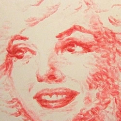 嘴唇和唇膏创造的画作