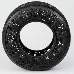轮胎手工DIY的艺术品