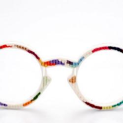 十字绣DIY作品——眼镜框
