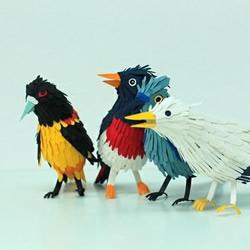 纸艺作品:漂亮的鸟儿