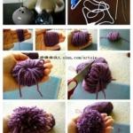 手工DIY毛线绒球