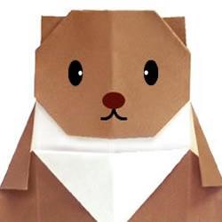 可爱小熊折纸方法
