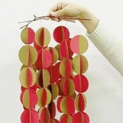 DIY制作双色纸风铃