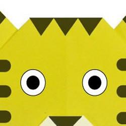 小老虎折纸的DIY方法