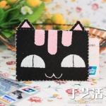 手工布艺DIY作品:猫言猫语卡套(卡片袋