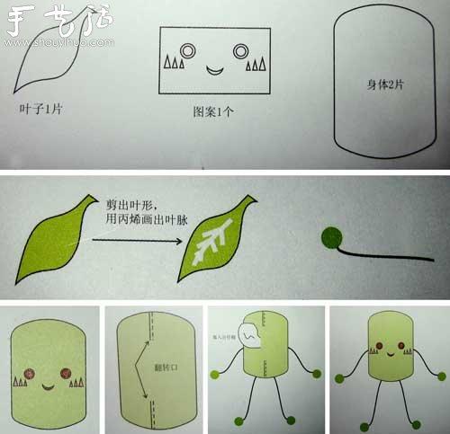 绿豆娃娃diy教程 手工制作布艺玩偶