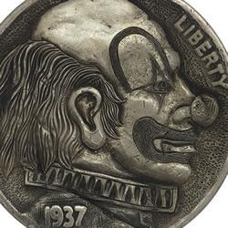 硬币雕刻作品