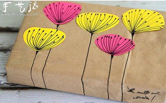生活diy 包装制作  简单手绘diy小清新包装,如下图所示的包装创意,没