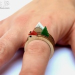 整体激光切割DIY的创意指环