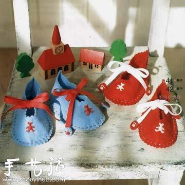 手工缝制可爱婴儿鞋