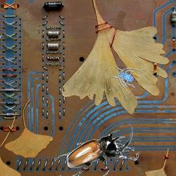 电子垃圾DIY环保艺术画