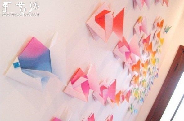 折纸小鱼的的制作方法