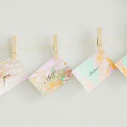 大理石花纹轧染小卡片的制作