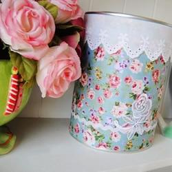 奶粉罐DIY清新田园风储物罐的方法